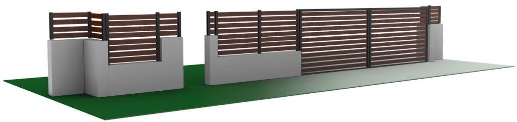 הדמיה של גדר עץ